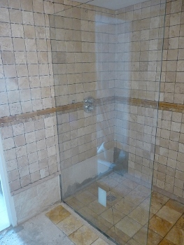 Joneau Shower - Complete reonvation - during